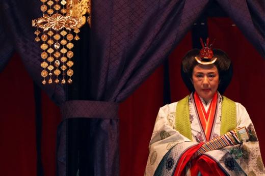 오와다 마사코 일왕비가 22일 일본 도쿄에서 열린 나루히토 일왕 즉위 의례에 참여하고 있다. /사진=로이터