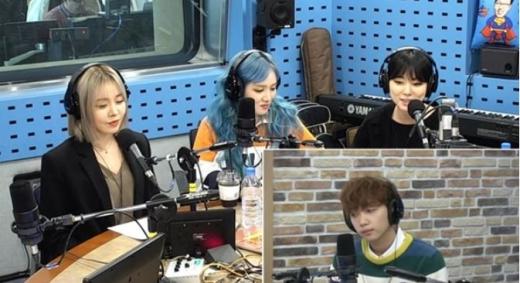 그룹 레이디스코드와 정세운. /사진=SBS 보이는라디오 방송화면 캡처