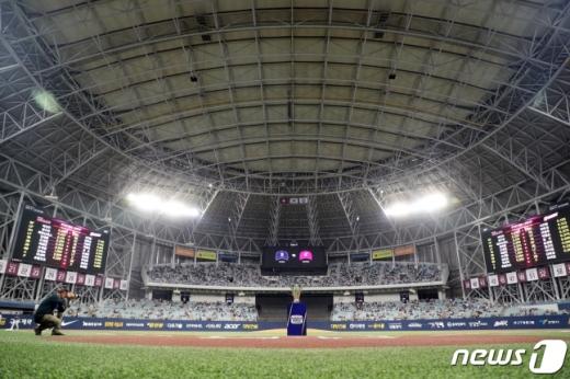 25일 두산 베어스와 키움 히어로즈의 한국시리즈 3차전이 열리고 있는 고척스카이돔. /사진=뉴스1