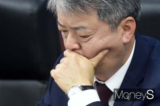 [머니S포토] 수출상황점검 점검회의 참석한 이인호 무보 사장