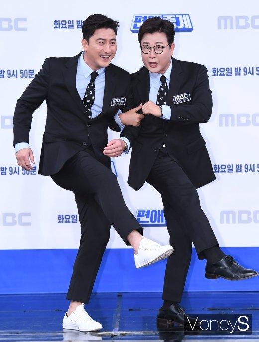 [머니S포토] 안정환·김성주 '찰떡 케미'