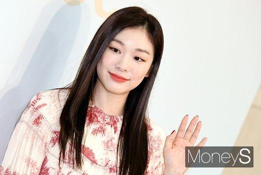 [머니S포토] 김연아, 러블리한 메이크업