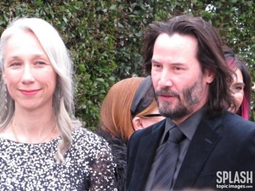 할리우드 배우 키아누 리브스(오른쪽)와 알렉산드라 그랜트. /사진=뉴스1(스플래쉬뉴스 인용)