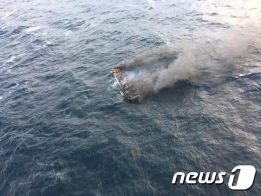 제주 차귀도 서쪽 해상에서 화재가 발생한 대성호. /사진=뉴스1