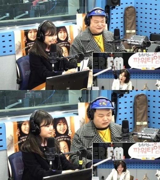 김수안 고규필. /사진=SBS 보이는라디오 방송화면 캡처