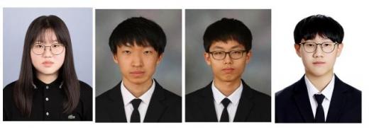 박수빈, 송민학, 장현성, 홍석찬 학생(왼쪽부터)/사진제공=부산시교육청