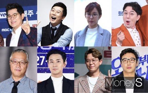 사진은 김용만, 이수근, 슈, 붐, 탁재훈, 토니안, 주지훈, 이경영.(위쪽부터 시계방향). /사진=머니S DB