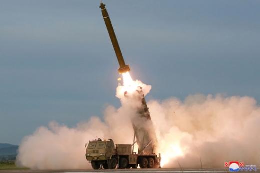 북한 미사일. /사진=로이터(조선중앙통신 인용)