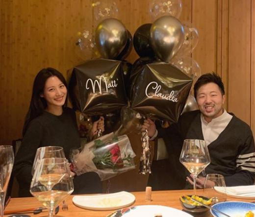 수현♥차민근, 신부파티서 한 컷… '결혼 임박'
