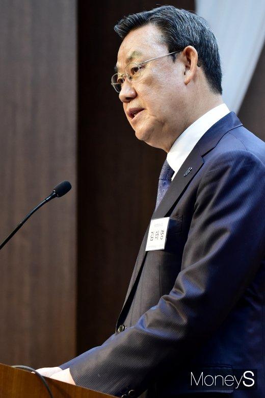 [머니S포토] 김태영 은행연합회장의 인사말