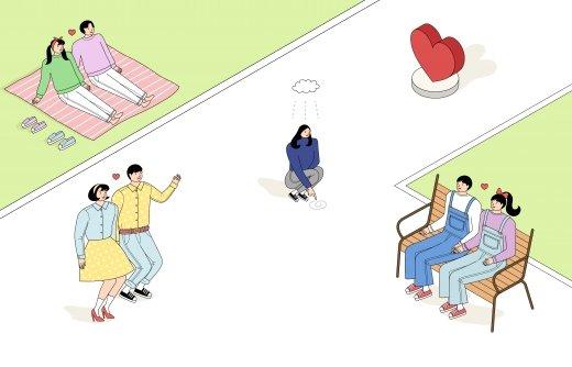"""""""커플, 싱글… 누가 더 살 많이 찔까"""""""