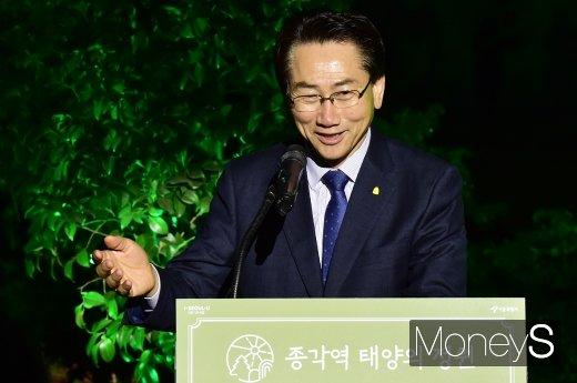 """[머니S포토] 김영종 종로 구청장 """"시민의 쉼터로 관리할 것"""""""