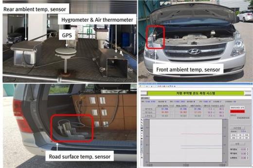 차량에 설치된 VISS 시스템. /사진=한국건설기술연구원