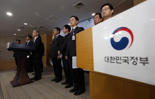 최기영 과학기술정보통신부 장관이 17일 정부서울청사에서 AI국가전략을 발표하고 있다. /사진=뉴스1