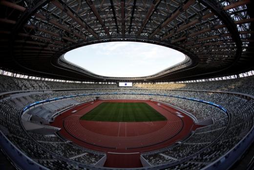 2020 도쿄 올림픽 개막식이 열릴 메인 스타디움. 이곳에서 욱일기가 금지되는 모습을 볼 수 있을까. /사진=로이터