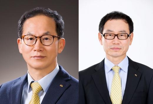 (왼쪽부터) 양종희 KB손보 사장, 허정수 KB생명 사장./사진=KB금융