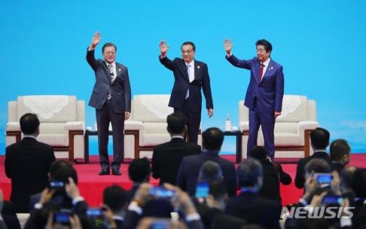 """[한중일정상회의] """"정상회의 준비한 시진핑 주석과 리커창 총리께 감사"""" (속보)"""