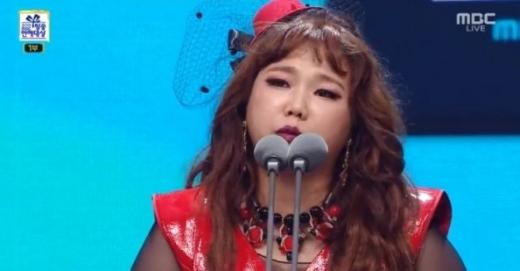 홍현희는 신인상을 수상했다. /사진=MBC 연예대상 방송 캡처