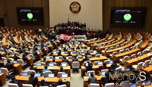 문희상 의장, 국회 질서유지권 발동(속보)