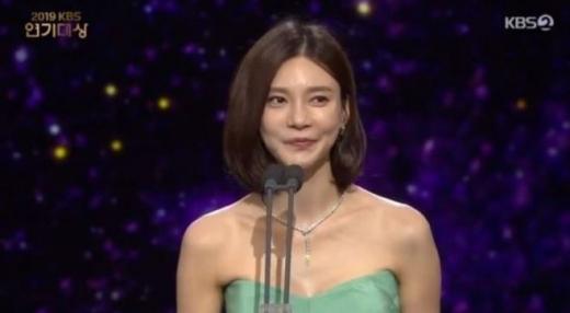 차예련. /사진=KBS 연기대상 방송캡처