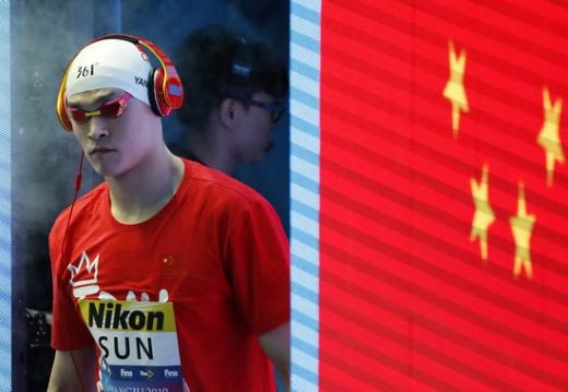 중국 수영선수 쑨양이 국제스포츠중재재판소로부터 8년 자격정지의 중징계를 받았다. /사진=로이터