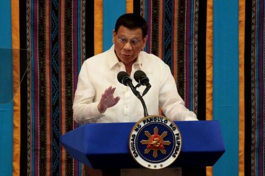 로드리고 두테르테 필리핀 대통령이 신종 코로나바이러스 감염증(코로나19) 검사를 받는다. /사진=로이터