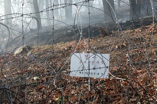 15일 오후 3시쯤 인천 연수구 옥련동 연경산에서 산불이 발생한 가운데 이 일대 강한 바람이 불어 산불이 빠르게 확산 중이다./사진=정진욱 뉴스1 기자