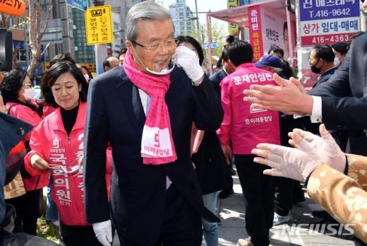김종인 미래통합당 총괄선거대책위원장이 4·15 총선 공식 선거운동 기간 첫 주말 부산을 방문했다. /사진=뉴시스