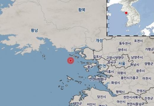인천 강화 서남서쪽서 해역에서 규모 2.3의 지진이 발생했다. /사진=기상청 홈페이지 캡처