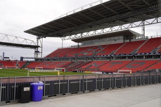 리그 중단으로 텅 빈 MLS의 한 경기장. /사진=로이터 뉴스1