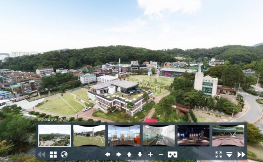 360도 VR안양여행 홈페이지. 사진은 안양예술공원 김중업박물관. / 사진제공=안양시