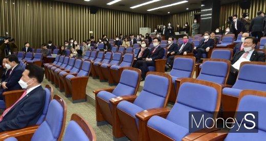 [머니S포토] 미래통합당 의원총회
