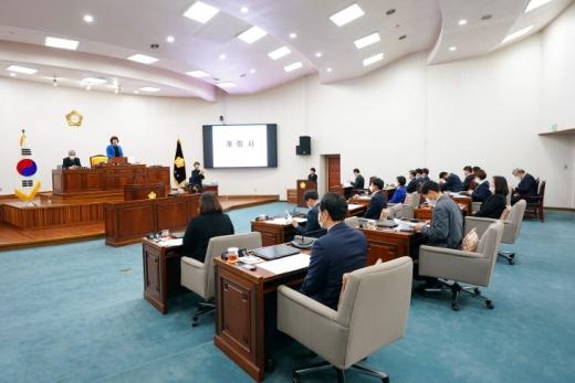 하남시의회, 제292회 임시회 개회. / 사진제공=하남시의회