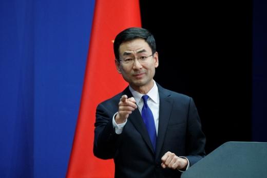 겅솽 중국 외교부 대변인이 미국 정부를 향해 중국은 적이 아니라는 입장을 밝혔다. /사진=로이터