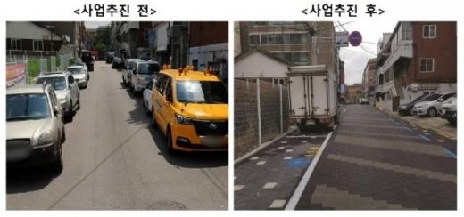 관련 사업추진 전(왼쪽)과 후. / 사진제공=부천시
