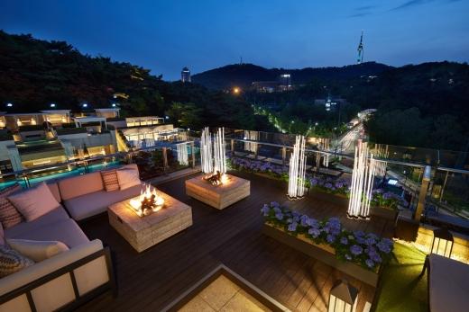 서울신라호텔 루프탑 가든. /사진=호텔신라
