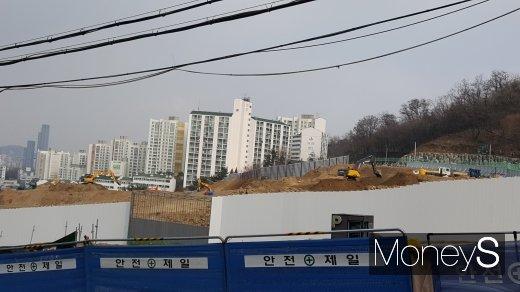 흑석3구역 공사현장. /사진=김창성 기자