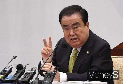 """[머니S포토] 문희상 """"초심을 잃지 말자"""""""