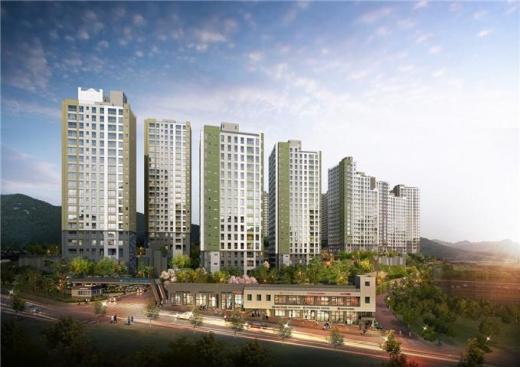 '광주 초월역 한라비발디'는 지하 3층~지상 22층, 13개 동에 전용면적 62~84㎡ 중소형 아파트 1108가구로 조성된다. /사진제공=피알메이트