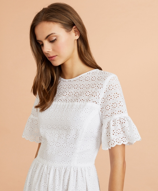브룩스 브라더스 레드 플리스, '코튼 아일렛 드레스' 출시… 플로럴 패턴·깔끔한 실루엣 - 머니S