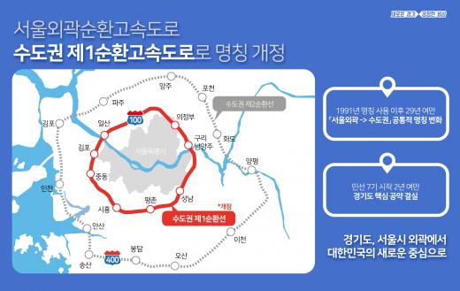 민선7기 경기도의 노력으로 올해 9월부터 '서울외곽순환고속도로' 명칭이 '수도권 제1순환고속도로'로 바뀐다. / 자료제공=경기북부청