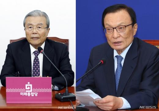김종인 미래통합당 비상대책위원장이 오는 3일 이해찬 더불어민주당 대표를 예방한다. 김 비대위원장(왼쪽)과 이 대표. /사진=뉴시스