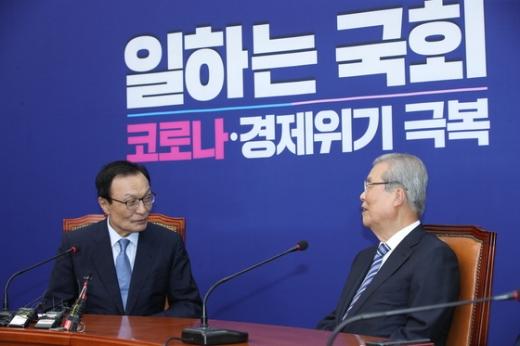 [속보] 이해찬-김종인 조우… 양 당 대표 첫 회동