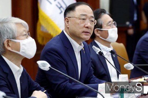 """[머니S포토] 홍남기, """"도심 드론택시 오는 2025년 상용화 목표…특별법 추진할 것"""""""