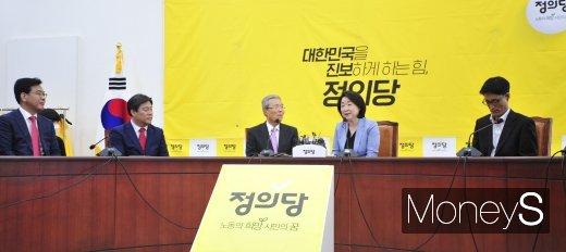 [머니S포토] 회동하는 김종인 위원장과 심상정 대표