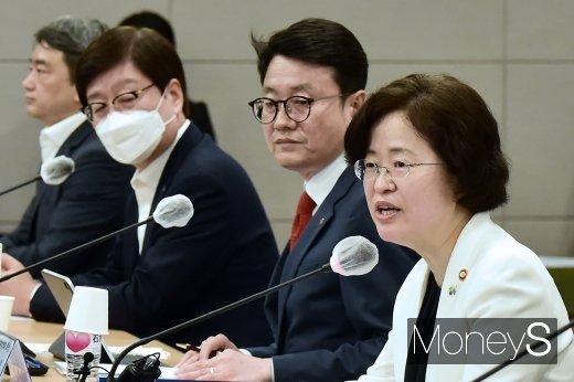 """[머니S포토] 조성욱, 유통·납품 업계의 어려움 적극적으로 지원하겠다"""""""