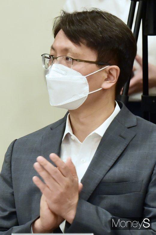 [머니S포토] 쿠팡 박대준, 코로나 유통ㆍ납품업체 상생협약 참석