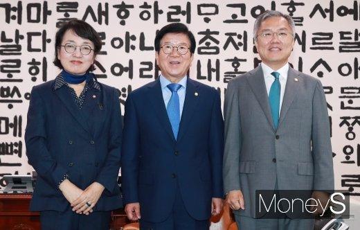 [머니S포토] 열린민주 지도부, 박병석 국회의장 찾아..