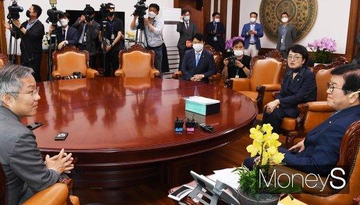 [머니S포토] 열린민주 지도부, 박병석 의장 예방
