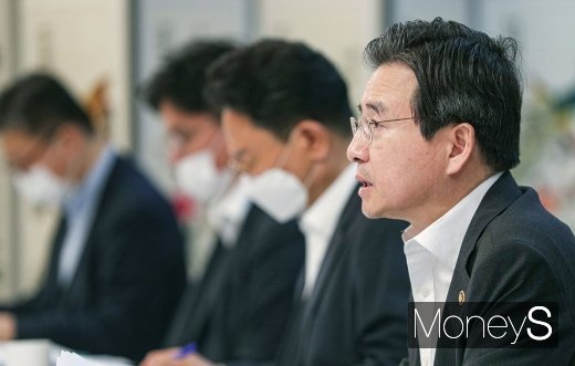 """[머니S포토] 김용범 차관, """"기업 수출환경 개선 위해 가용 정책수단 총동원"""""""